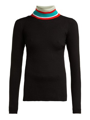 Proenza Schouler PSWL striped roll neck cotton sweater