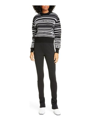 PROENZA SCHOULER WHITE LABEL proenza schouler pswl stripe crop sweater
