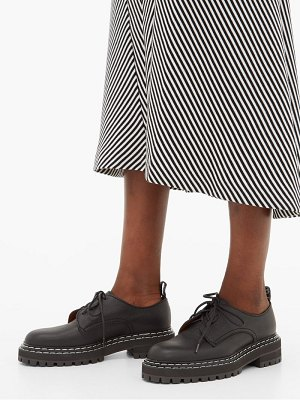 Proenza Schouler raised sole grained leather derby shoes