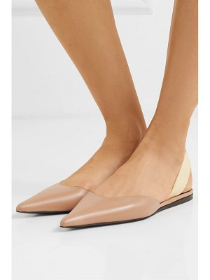 Proenza Schouler rubber-trimmed leather slingback flats