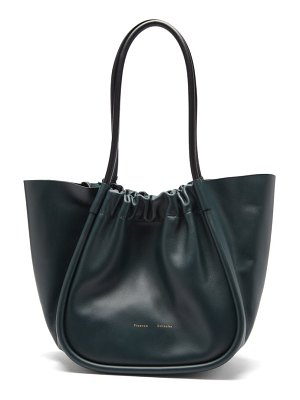 Proenza Schouler ruched large leather tote bag