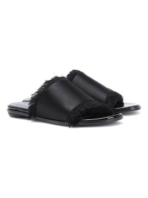Proenza Schouler Satin and leather slides
