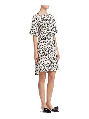 Proenza Schouler silk floral-print dress