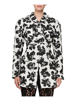 Proenza Schouler Single-Breasted Floral-Jacquard Jacket