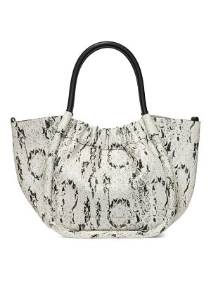 Proenza Schouler small ruched snakeskin-embossed leather tote