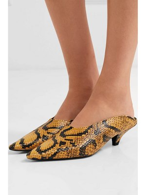 Proenza Schouler snake-effect leather mules