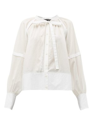 Proenza Schouler tie neck cotton voile blouse