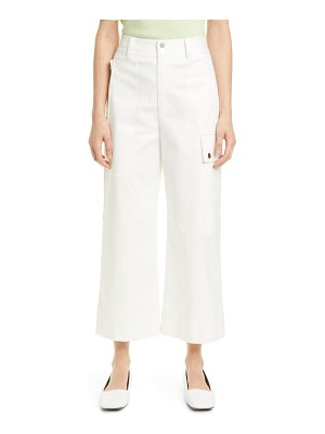 PROENZA SCHOULER WHITE LABEL crop wide leg cotton twill cargo pants