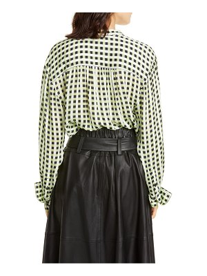 Proenza Schouler white label gingham georgette blouse