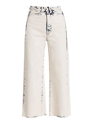 PROENZA SCHOULER WHITE LABEL wide leg cropped jeans