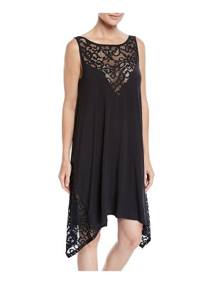 Profile By Gottex Shalimar Lace Jersey Coverup Dress