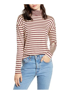 Project Social T mixed stripe turtleneck top