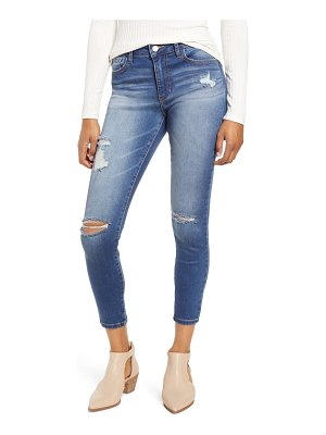 MADE IN BLUE ripped ankle skinny jeans