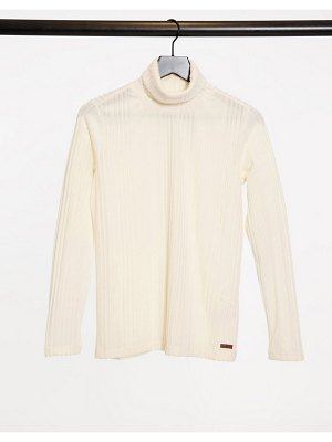 Protest jules powerstretch base layer top in beige-white