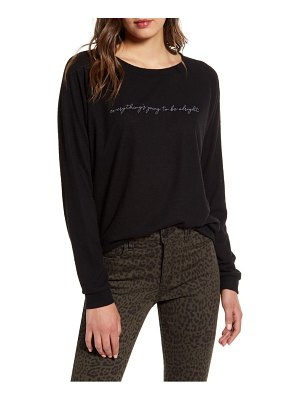 PST by Project Social T everything's going to be alright fleece sweatshirt