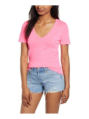 PST by Project Social T lettuce edge v-neck tee