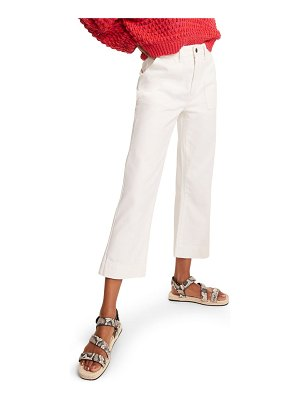 PTCL high waist straight leg crop carpenter pants