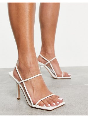 Public Desire rayelle heeled sandals with square toes in white