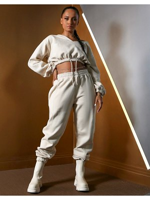Public Desire x amber gill sweatpants in butter-yellow