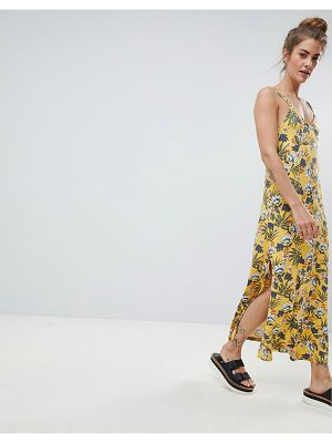 Pull & Bear cami dress in yellow floral