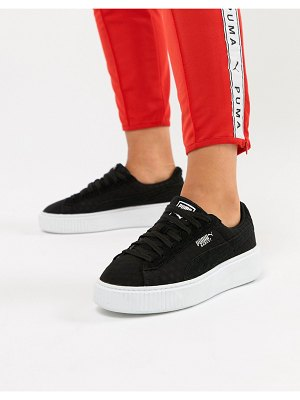 PUMA Basket Platform Sneaker in black