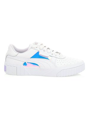 PUMA cali glow iridescent leather low-top sneakers