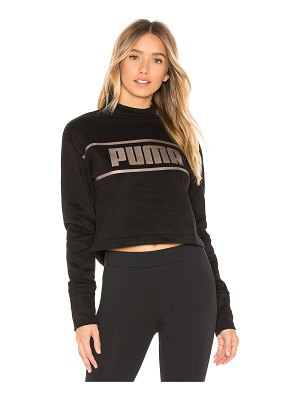 PUMA Cropped Mock Neck Pullover