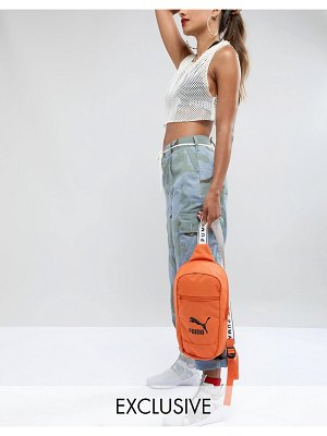 PUMA Exclusive Cross Body Bag In Orange