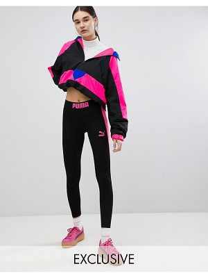 PUMA Exclusive To ASOS Legging With Neon Side Panel