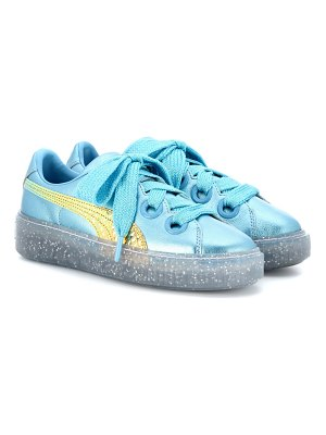 PUMA metallic leather glitter sneakers