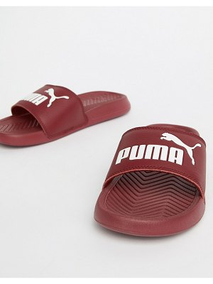 PUMA Popcat Burgandy Sliders