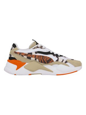 PUMA rs-x³ wildcats animal-print pony hair & suede sneakers