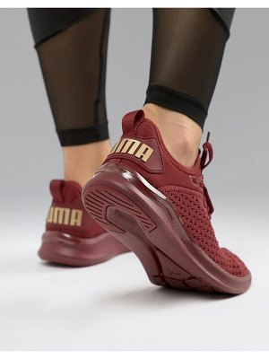 PUMA Running Ignite Flash Sneakers In Burgundy
