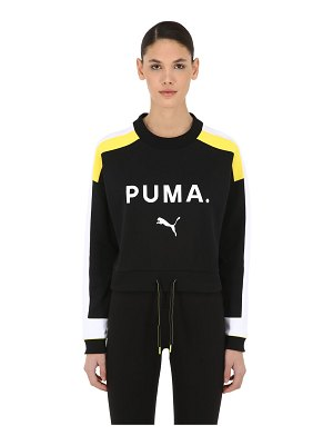 PUMA SELECT Logo printed crop sweater