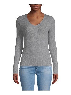 Pure Navy Cashmere V-Neck Pullover