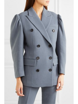 pushBUTTON double-breasted wool-blend blazer