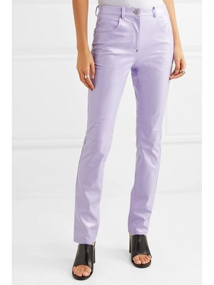 pushBUTTON glossed-pu skinny pants