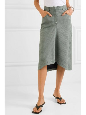 pushBUTTON houndstooth woven midi skirt