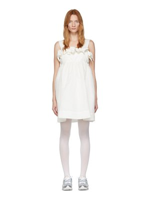 pushBUTTON ssense exclusive off- double ribbons mini dress