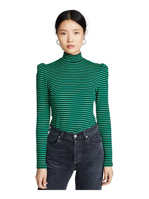 pushBUTTON stripe high neck top