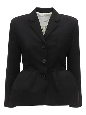 pushBUTTON Structured cool wool jacket