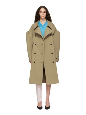 pushBUTTON Twill Trench Coat