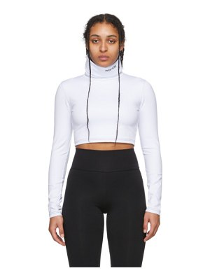 Pyer Moss embroidered logo cropped turtleneck