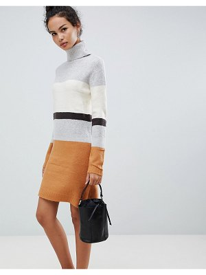 QED London ribbed sweater dress