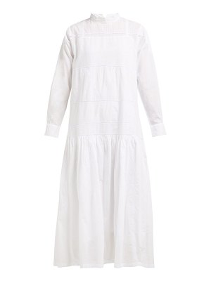 QUEENE AND BELLE astrid lace insert cotton dress