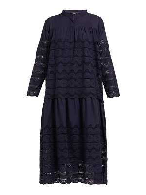 QUEENE AND BELLE daphne broderie anglaise cotton midi dress