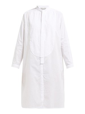 QUEENE AND BELLE iona pintucked cotton shirtdress