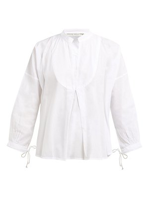 QUEENE AND BELLE moon pleat-front cotton voile shirt