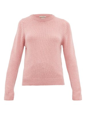 QUEENE AND BELLE tushingham crown-embroidered cashmere sweater