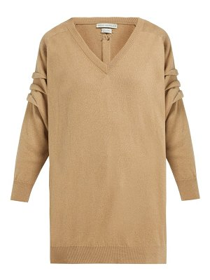 QUEENE AND BELLE v neck cashmere sweater